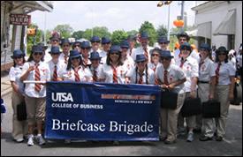 Briefcase Brigade at the parade