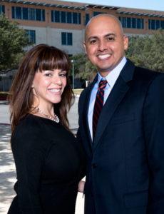 Martin Salinas with his wife Rebecca
