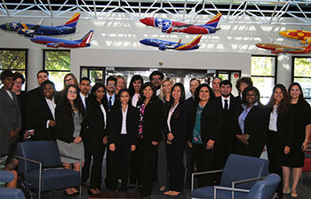 Business students visit Southwest Airlines