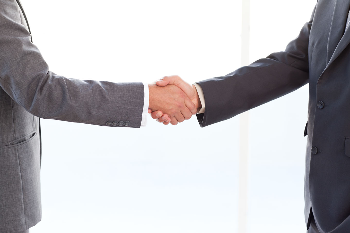 Two individuals shaking hands