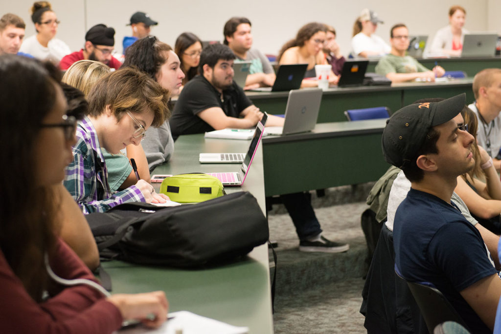 UTSA College of Business students in the classroom