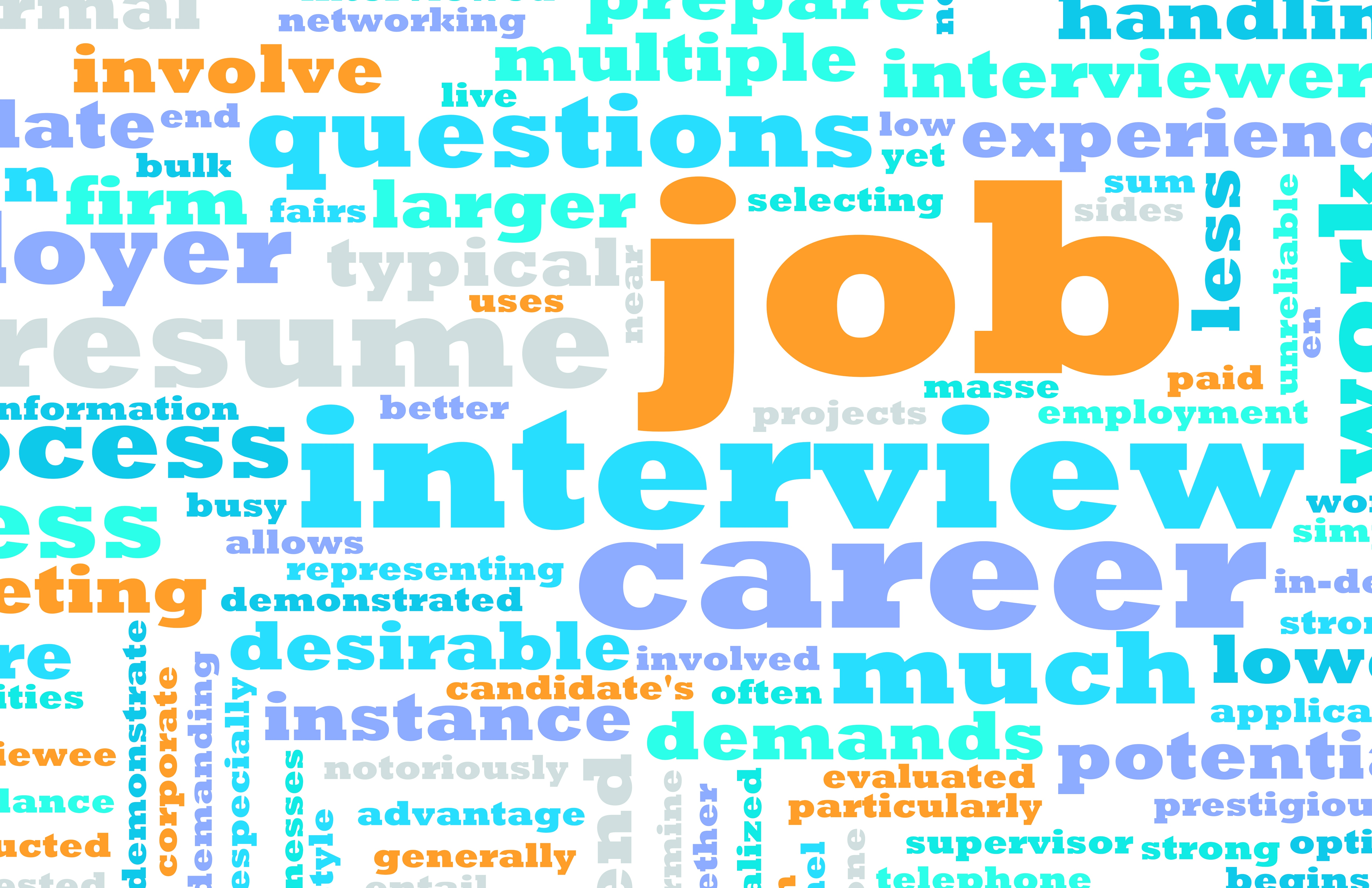 Job search word graphic