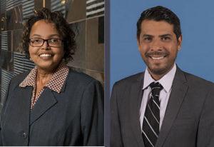 New Associate Dean Pamela Smith and Manuel Sanchez