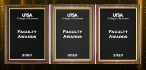 Faculty award plaques