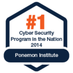 Best Cyber Security Program in the Nation - Ponemon Institute