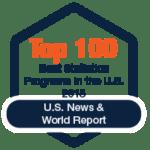 Top 100 Best Statistics Programs (Graduate) 2018 by U.S. News & World Report